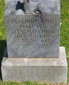 Headstone: Pauline Marie Hull